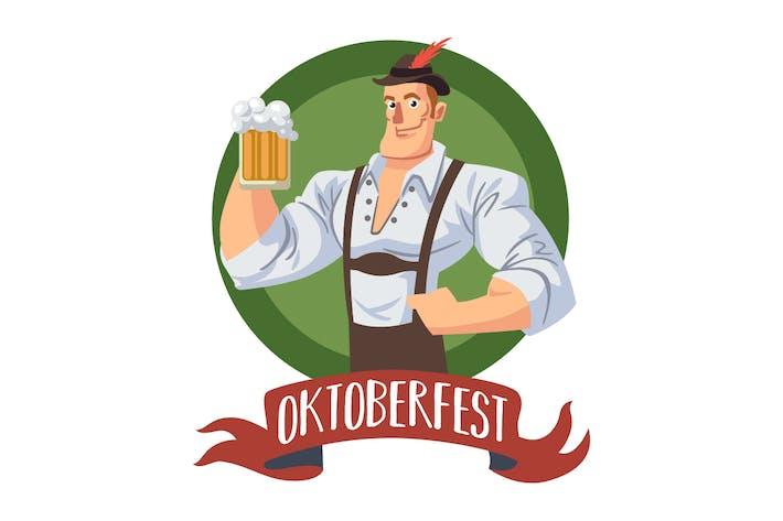Thumbnail for Oktoberfest Man in Badge