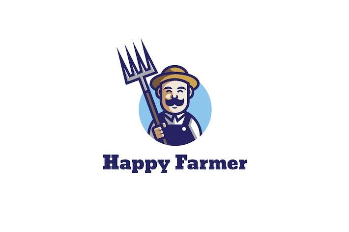 Logo du fermier heureux
