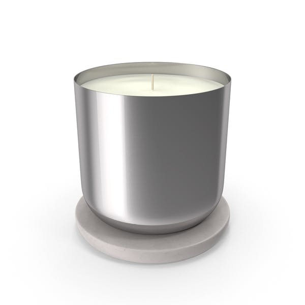 Scented Candle Small Metal Silver
