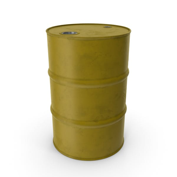 Barrel Metal Clean Yellow