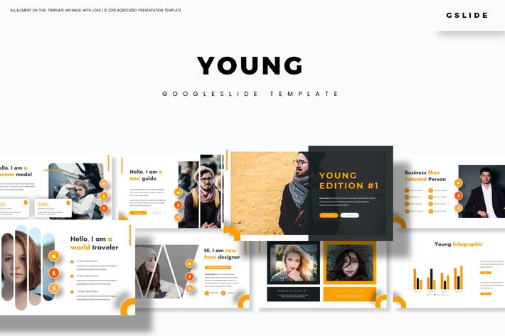 Thumbnail for Young - Google Slides Template
