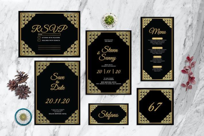 Thumbnail for Black Round - Wedding Invitation