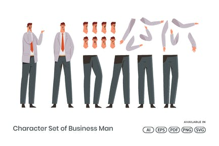 Character Set of Business Man