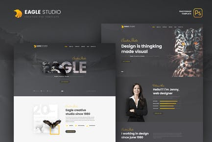 Eagle Studio - Creative PSD Modèle