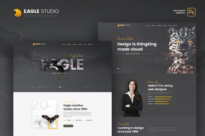 Eagle Studio - Kreative PSD-Vorlage