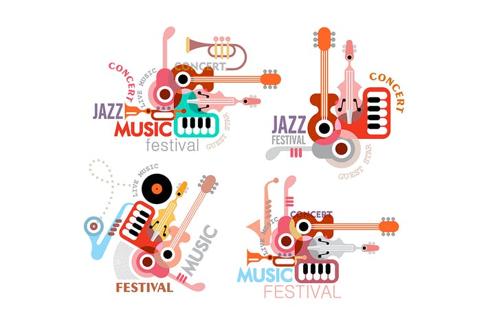 Thumbnail for Four Music Festival Poster Options