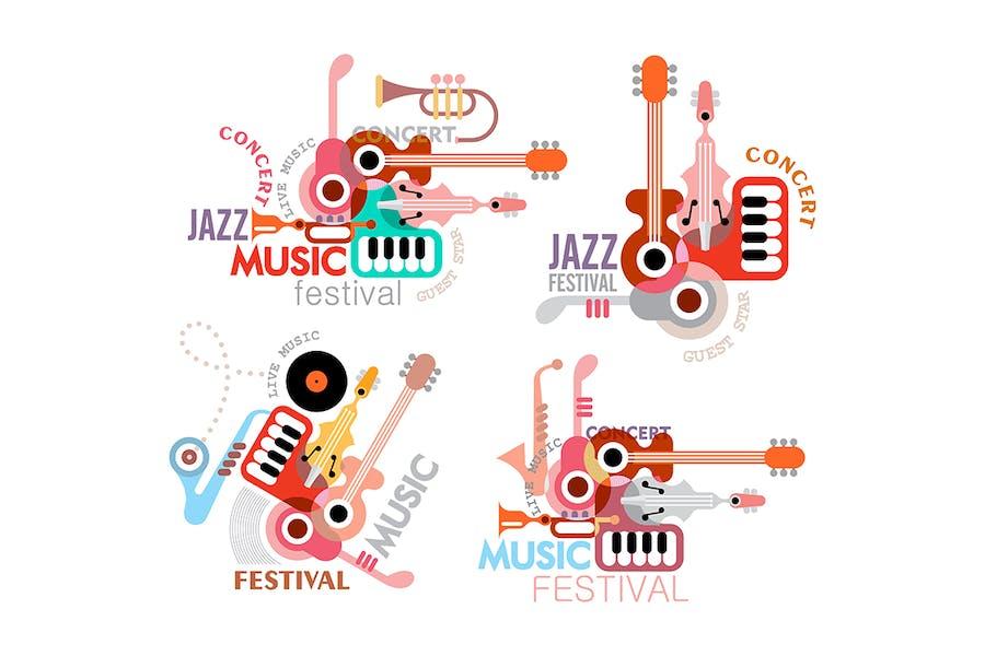 Four Music Festival Poster Options
