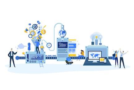Conceptos de diseño plano para el desarrollo de sitios web