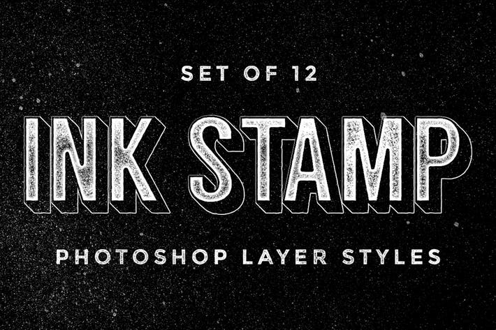 Thumbnail for Ink Stamp Photoshop Layer Styles