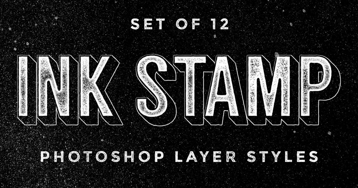 Download Ink Stamp Photoshop Layer Styles by MiksKS