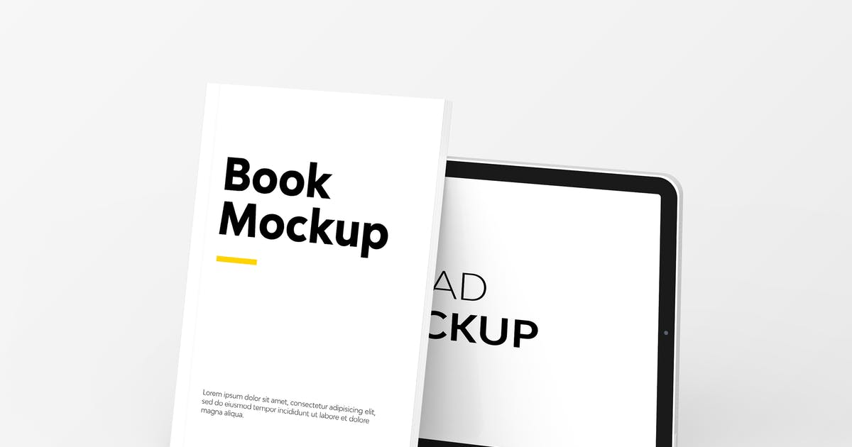 Download Book & iPad Mockup by UnicDesign