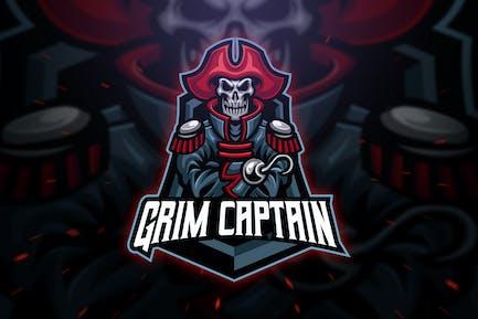 Grim Captain Sport and Esport Logo Template