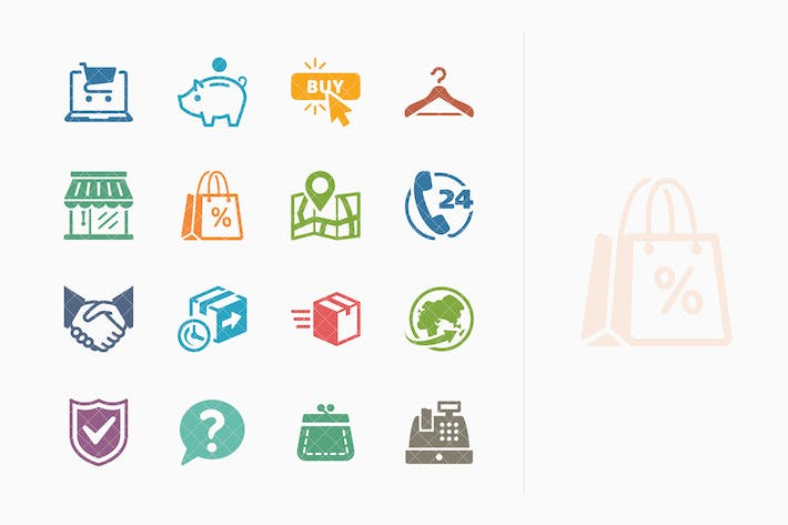 Thumbnail for E-commerce Icons Set 5 - Colored Series