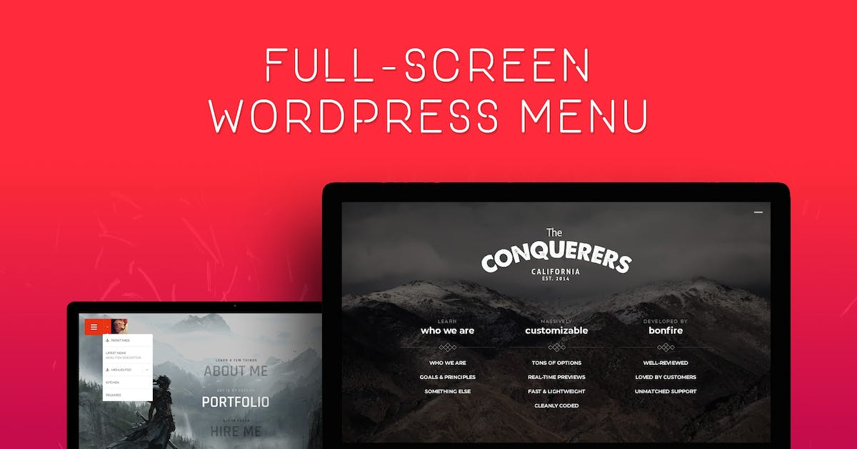 Download Jumbo: Fullscreen WordPress Menu by BonfireThemes