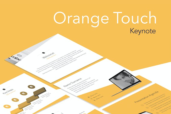 Thumbnail for Orange Touch Keynote Template