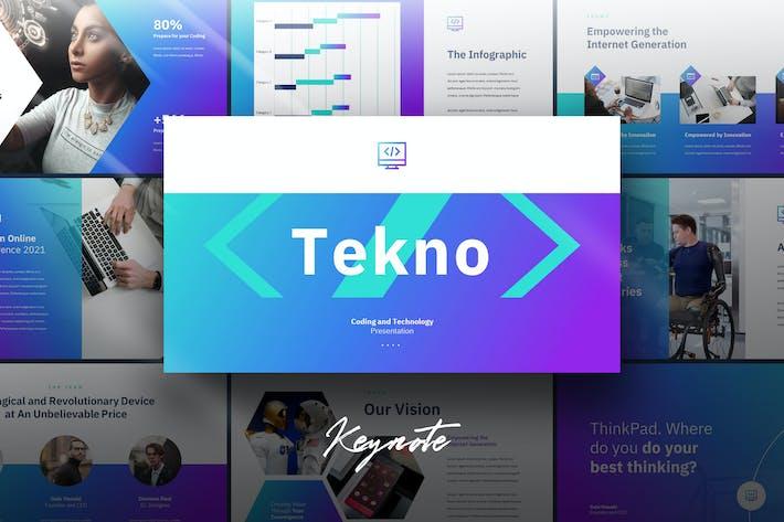 Thumbnail for Tekno - Tech Theme Keynote Template
