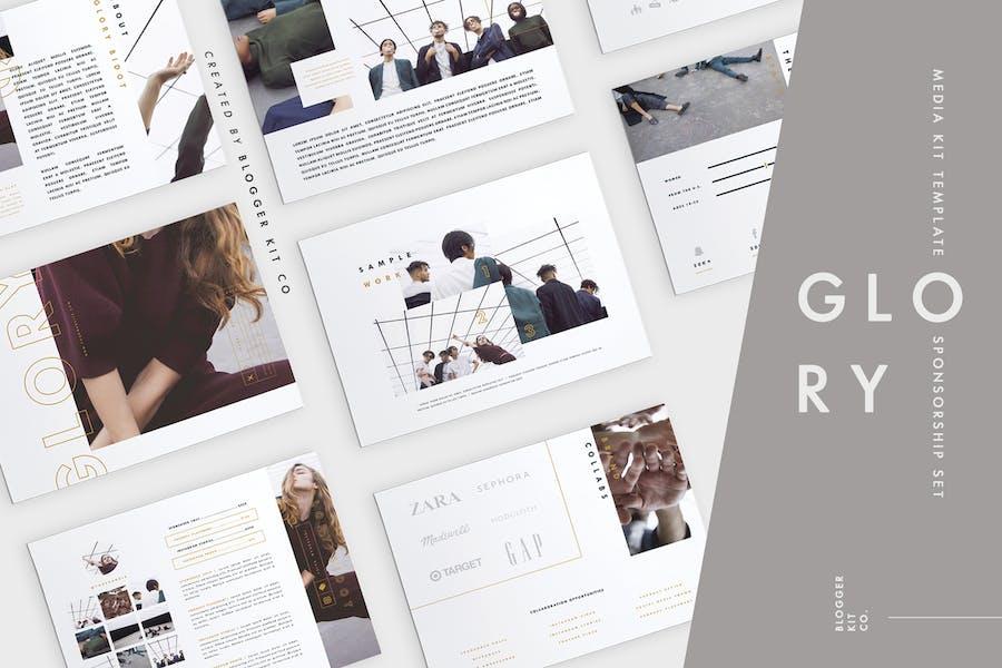 Media Kit Template Set | 10 Pages | Adobe InDesign