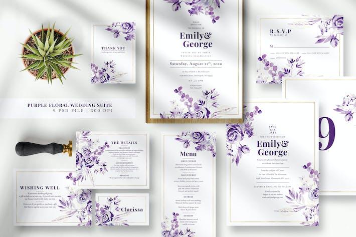 Thumbnail for Purple Floral Wedding Suite EZ