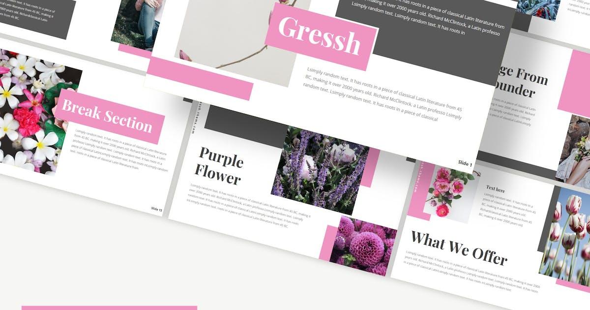 Download Gressh - Powerpoint/Google Slides/Keynote Template by Ksenusya