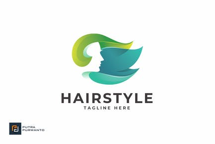 Hairstyle - Logo Template