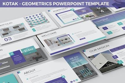 Kotak - Geometrics Powerpoint Template