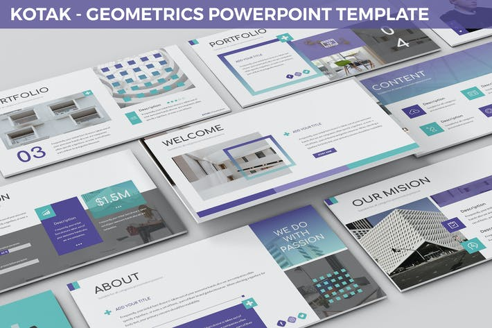 Thumbnail for Kotak - Geometrics Powerpoint Template