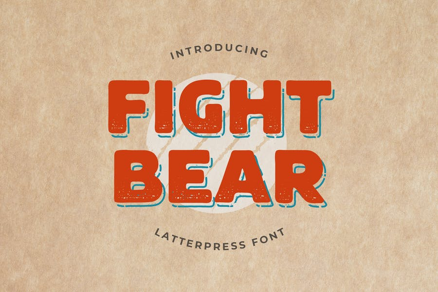 Fight Bear Display Typeface Font