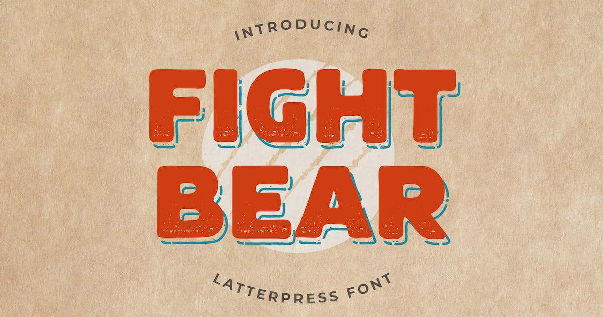 Download Fight Bear Display Typeface Font by uicreativenet