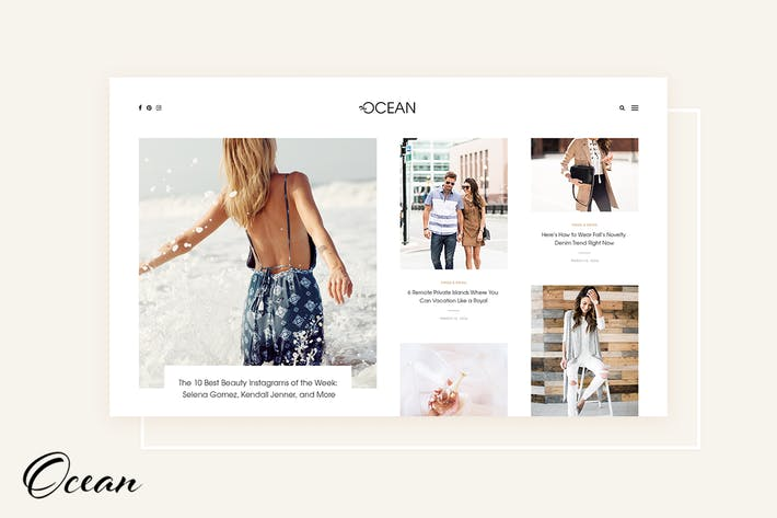 Thumbnail for Ocean - Exquisite WordPress Blog
