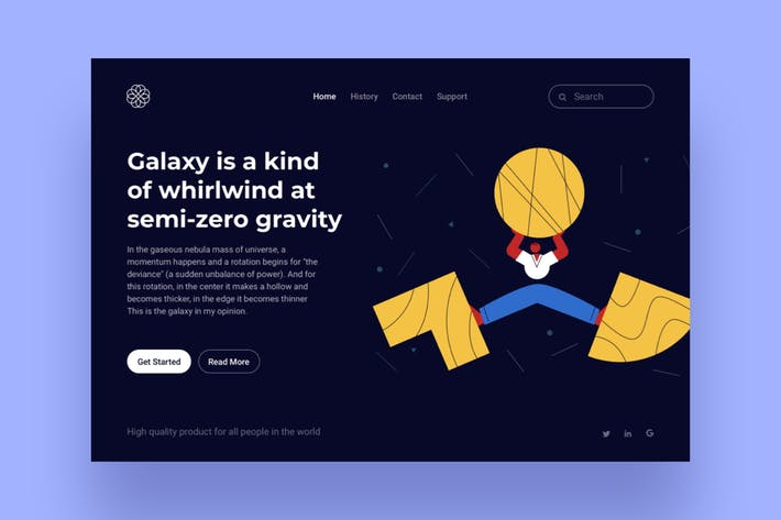 Thumbnail for Galaxy Landing Page Illustration