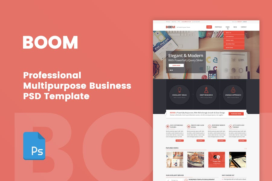 BOOM - Multipurpose Corporate PSD Template