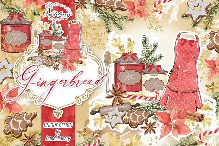 Thumbnail for Diseño de pan de jengibre Navidad.