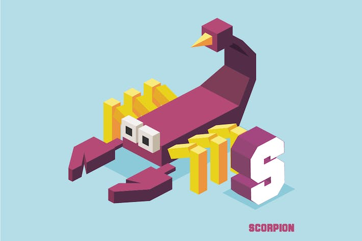 Thumbnail for S for scorpion. Animal Alphabet