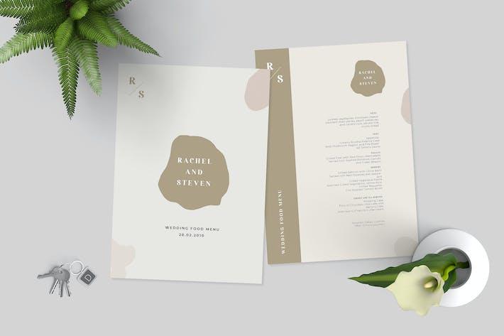 Thumbnail for Modèle de menu de mariage simple