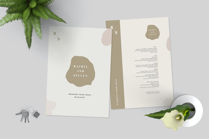 Thumbnail for Simple Wedding Menu Template