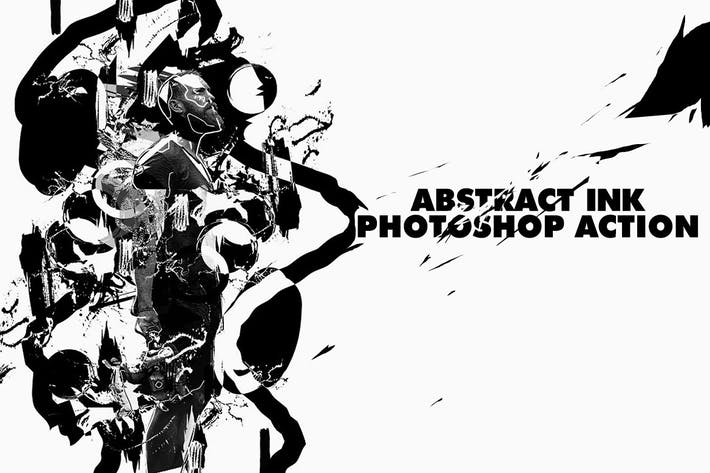 Thumbnail for Abstract Ink Poster Photoshop Action