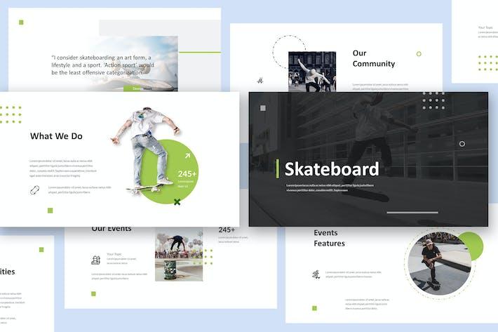 Шаблон презентации Keynote для скейтборда