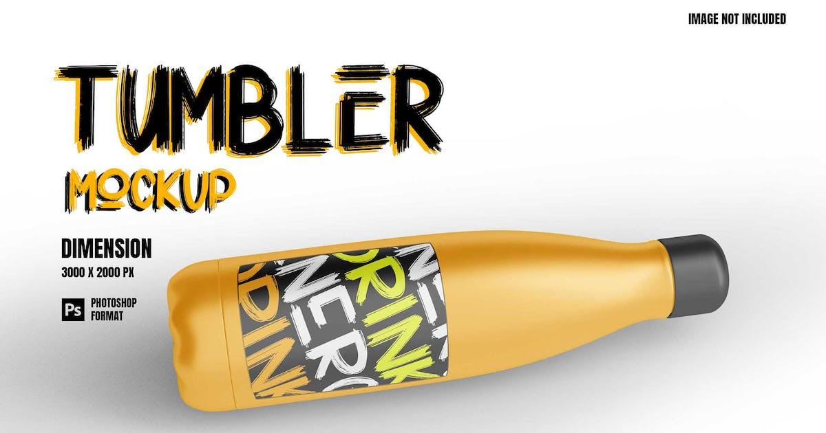Download Tumbler Steel Bottle - Mockup by raseuki