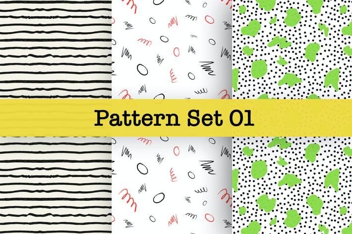 Thumbnail for Hand-drawn Pattern Set 01