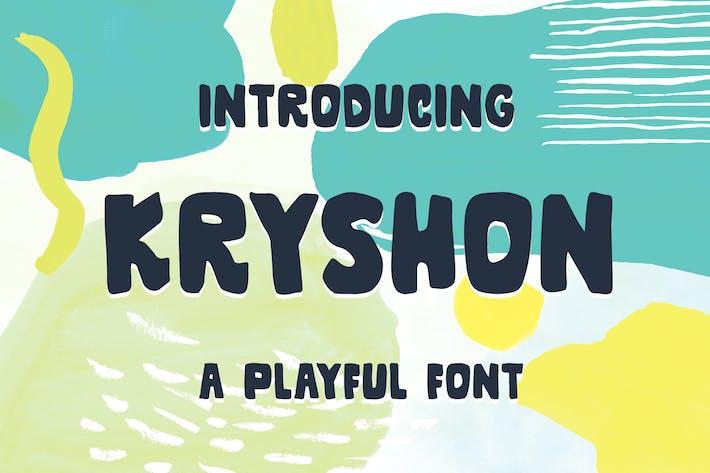 Thumbnail for Kryshon - A Playful Font