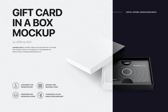 Thumbnail for Gift Card Mockup