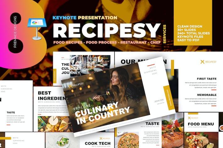 Thumbnail for Recipesy - Food Restaurant Keynote Template