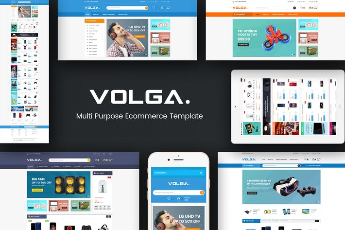 Thumbnail for Volga - MegaShop Responsive Magento Theme