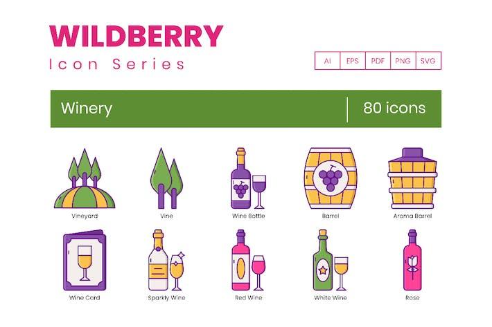 80 Weingut-Symbole - Wildberry-Serie