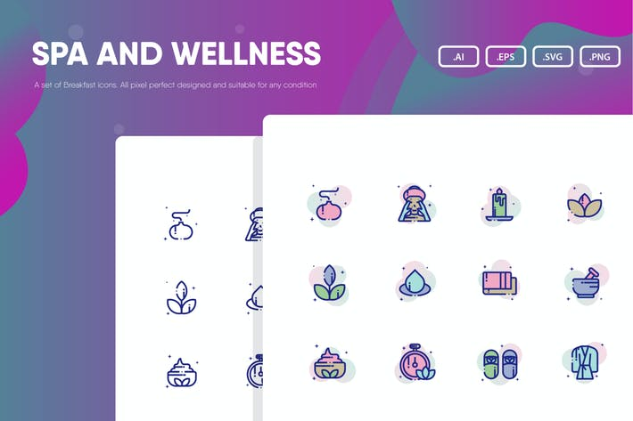 Thumbnail for Spa and Wellness Icon Pack