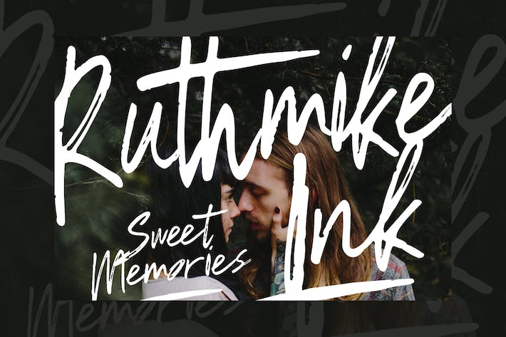 Thumbnail for Ruthmike Brush Font