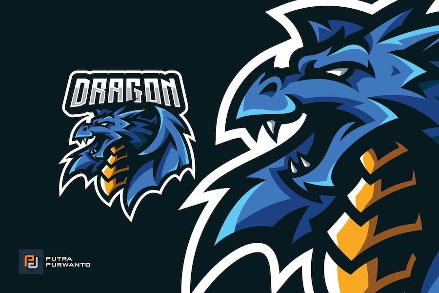 Winged Dragon Mascot Esport Gaming Logo