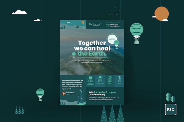 Thumbnail for Environmental Poster PSD Template