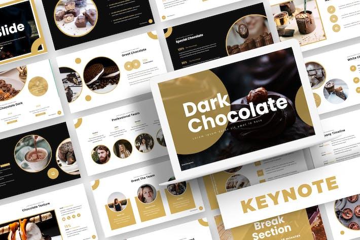 Thumbnail for Темный шоколад - Шаблон Keynote