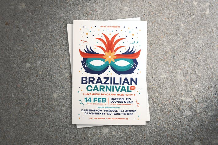 Thumbnail for Brazilian Carnival Flyer